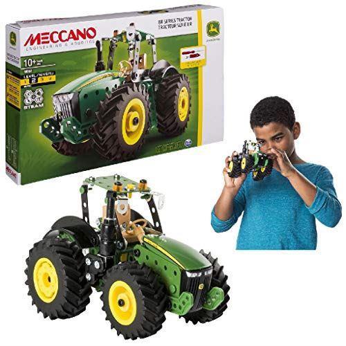 Meccano by Erector John Deere 8R Series Tractor Stem Building Kit