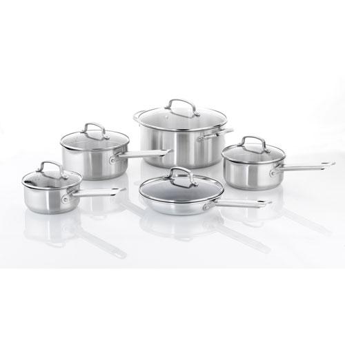 Cuisinart 10-Piece Stainless Steel Cookware Set - Silver