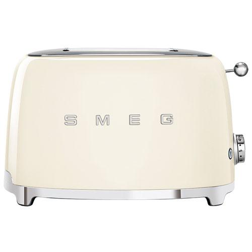 Smeg 50's Style Retro Toaster - 2-Slice - Cream
