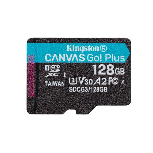 Kingston Canvas Go! Carte mémoire microSDXC de 170 Mo/s de 128 Go Plus