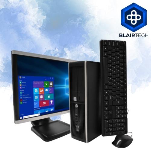 HP 6300 Intel i5 16GB 512GB SSD Windows 10 Home WiFi Desktop PC 22in Monitor