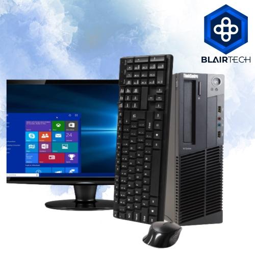Lenovo M92 Intel i5 16GB 512GB SSD Windows 10 Pro WiFi Desktop PC 22in Monitor