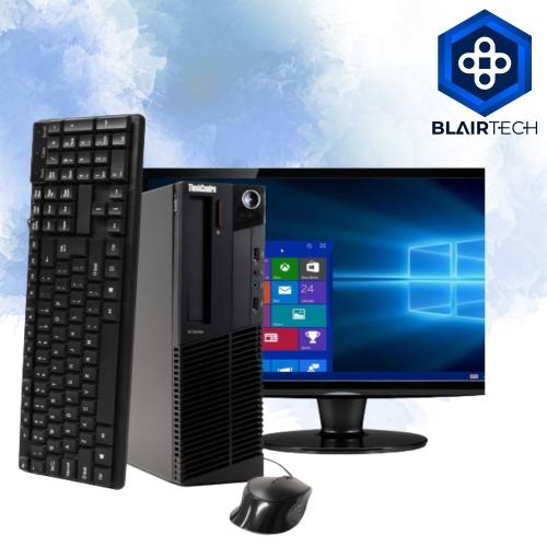 Lenovo M91 Intel i5 4GB 512GB SSD Windows 10 Pro WiFi Desktop PC 22in Monitor