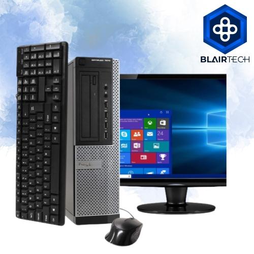 Dell 7010 Intel i5 8GB 240GB SSD Windows 10 Pro WiFi Desktop PC 19in Monitor