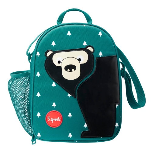 3 Sprouts Insulated Lunch Bag for Kids - Reusable Tote with Shoulder Strap, Handle and Pockets