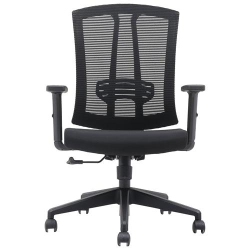 Brassex Aiden Ergonomic Mid-Back Mesh Executive Chair - Black