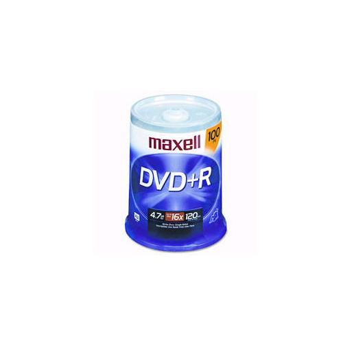 MAXELL 100PK DVD+R WO 16X 4.7GB SPDL