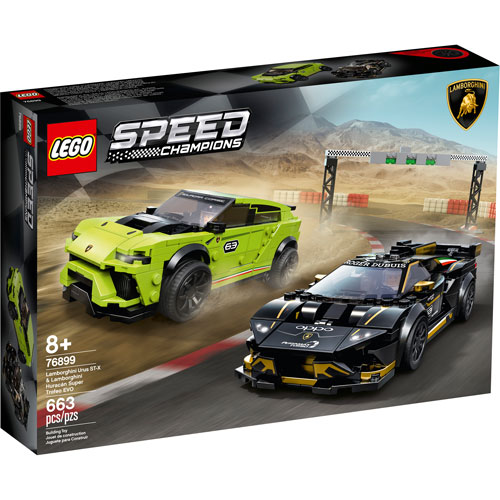 LEGO Speed Champions: Lamborghini Urus ST-X & Lamborghini Huracán Super Trofeo EVO - 663 Pieces