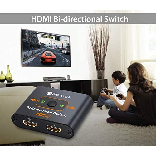 Hdmi Switcher Neoteck 4k 60hz 2 In 1 Out Bidirectional Hdmi Splitter 1 X 2 Single Display With Extra Usb Power Cable Best Buy Canada