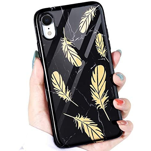 Iphone Xr Case Black Marble Idwell Ultra Thin Cute Series For Girls Women Bling Lightweight Soft Tpu Case Cover Best Buy Canada