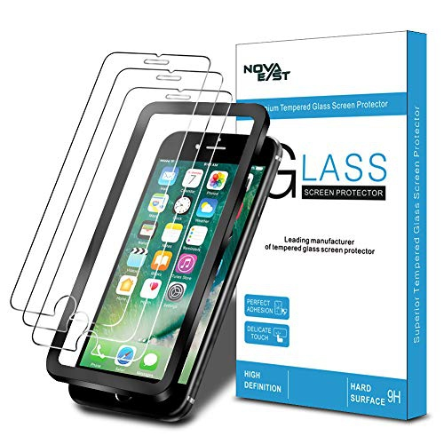 Novaeast Screen Protector For Iphone 8 Iphone 7 Iphone 6s Iphone 6 Tempered Glass Screen Protector 4 7 Inch With Easy Best Buy Canada