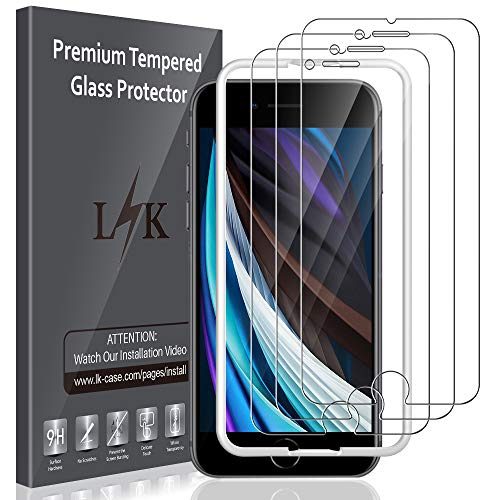 3 Pack Lk Screen Protector For Iphone Se 2020 Iphone 6 Iphone 6s Iphone 7 Iphone 8 Tempered Glass Case Best Buy Canada