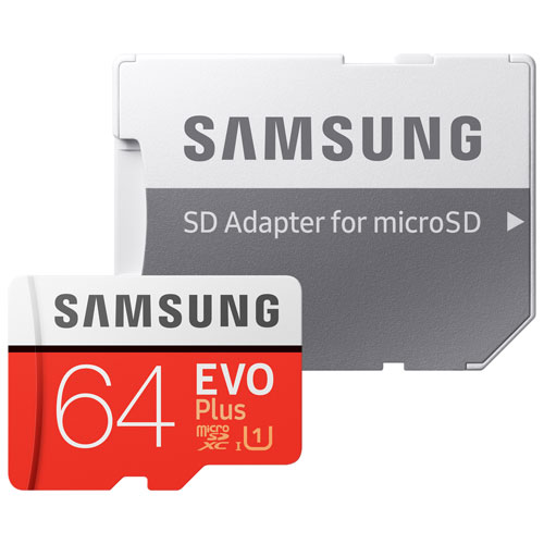 Samsung EVO Plus 64GB 100 MB/s microSDXC Memory Card