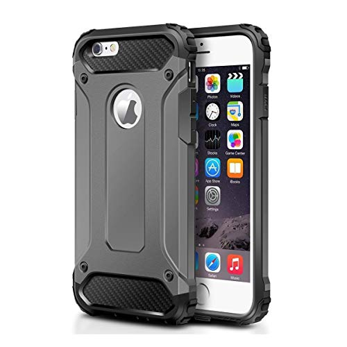 Vultic Armor iPhone 8 Plus Case, Heavy Duty Durable Hard [Drop Protection] Bumper Cover for Apple iPhone 8 Plus (Grey)
