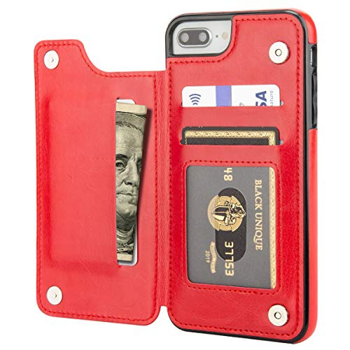Aoksow Iphone 8 Plus Wallet Case Iphone 7 Plus Case Wallet Premium Pu Leather Card Holder Drop Protection Protective Best Buy Canada