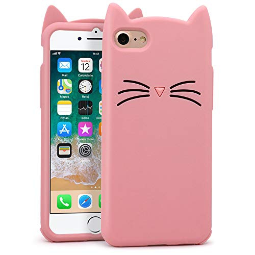 Yonocosta Iphone 7 Case Iphone 8 Case Funny Cute 3d Cartoon Animals Pink Whisker Cat Ears Kitty Soft Silicone Shockproof Best Buy Canada