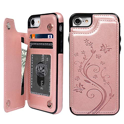 Adirva Iphone Se 2020 Wallet Case Iphone 7 Case Iphone 8 Wallet Case With Card Holder Embossed Butterfly Pu Leather Best Buy Canada