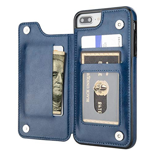 Aoksow Iphone 8 Plus Wallet Case Iphone 7 Plus Case Wallet Premium Pu Leather Card Holder Drop Protection Protective Cover Best Buy Canada