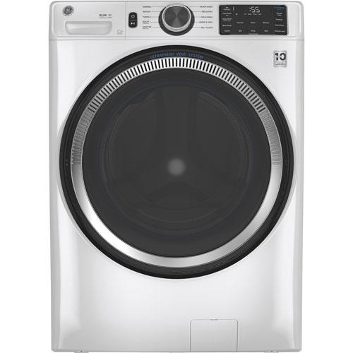 Laveuse à chargement frontal haute efficacité de 5,5 pi³ de GE - Blanc