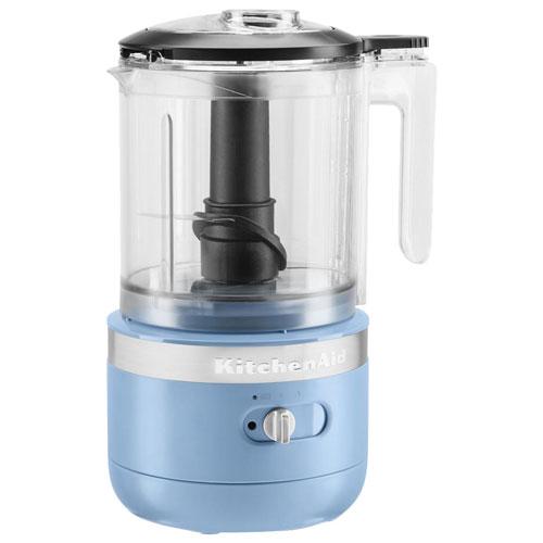 Hachoir sans fil de KitchenAid - 5 tasses - Velours bleu