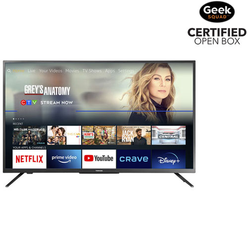 """Toshiba 43"""" 4K UHD HDR LED Smart TV - Fire TV Edition - Only at Best Buy - Open Box"""