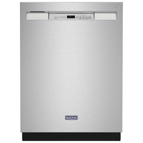 Lave-vaisselle encastrable 24 po 50 dB avec cuve en acier inoxydable de Maytag - Inox