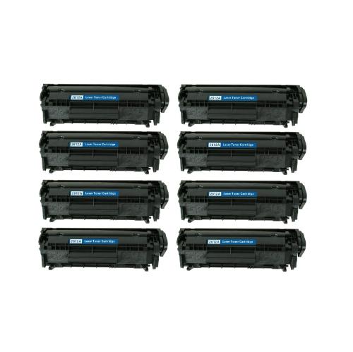 A Plus Premium Compatible 8 Pack HP 12A Black Toner for LaserJet 1010/1012/1020/3015/3020/3050/3055,M1319/1005