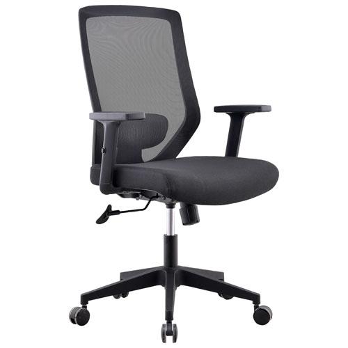 Fauteuil de bureau ergonomique en filet à dossier haut Candescence d'Ergolea - Noir