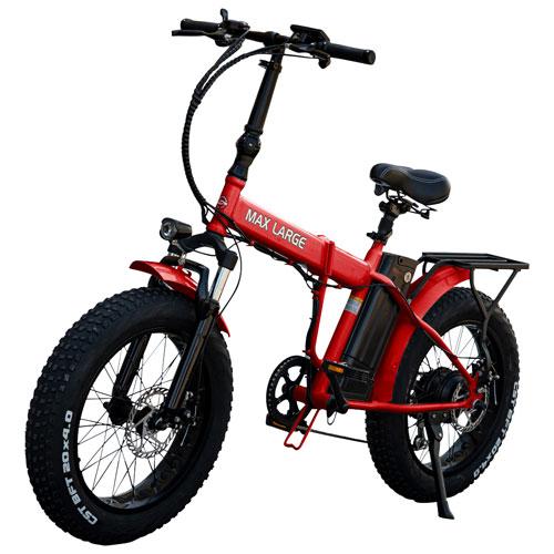 """Daymak Max Large 350-Watt 20"""" Fat Tire Electric Bike - Red"""