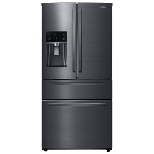 """Samsung 33"""" 24.7 Cu. Ft. French Door Refrigerator with Water Dispenser - Black Stainless"""