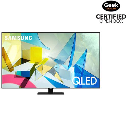 "Samsung 75"" 4K UHD HDR QLED Tizen Smart TV - Titan Black - Only at Best Buy - Open Box"
