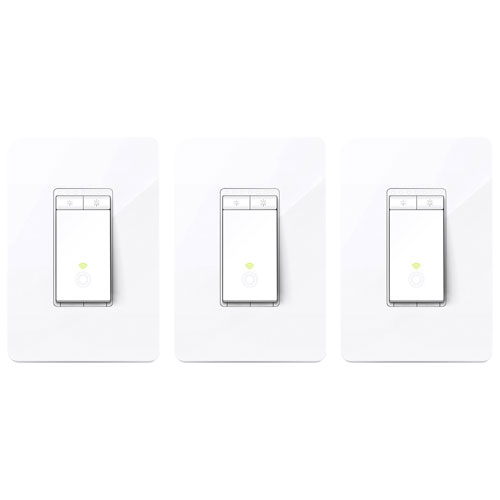 TP-Link Kasa Smart Wi-Fi Dimmer Light Switch - 3-Pack
