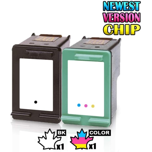 1 Set of 2 Inkfirst® Remanufactured Ink Cartridges Replacement for HP 92 93 C9362WN C9361WN Deskjet 5420 5420v 5440 5440v