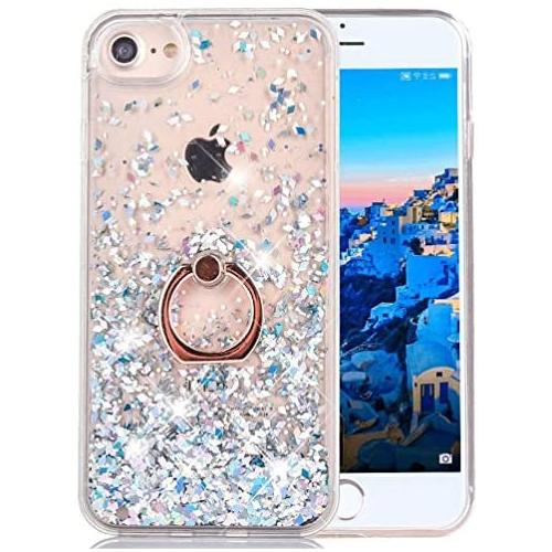 iPhone 6S Plus Liquid Case Glitter Cover Fashion Luxury Sparkling Liquid Quicksand Soft TPU Hard PC Back Case 360