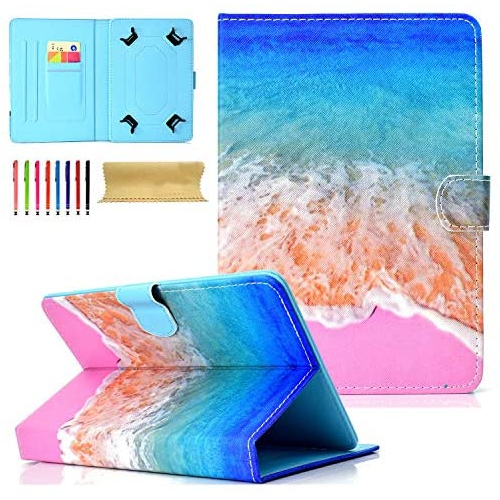 Universal Folio Case For 7 Inch Tablet Uliking Pu Leather Multi Angle Stand Magnetic Cover With Card Holder For 6 5 Best Buy Canada