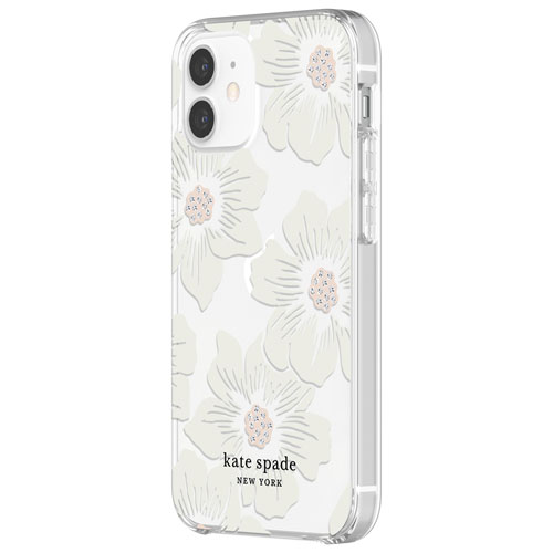 Kate Spade New York Fitted Hard Shell Case for iPhone 12 mini - Hollyhock Floral