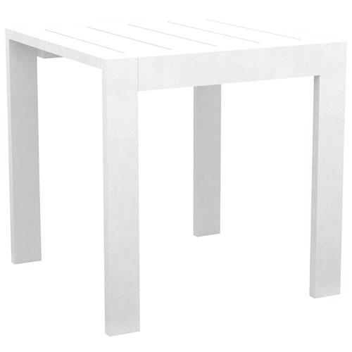 Portofino Contemporary Square Outdoor Side Table - White