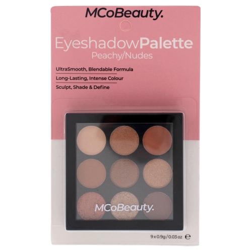 Eyeshadow Palette - Peachy Nudes by MCoBeauty for Women - 0.03 oz Eye Shadow