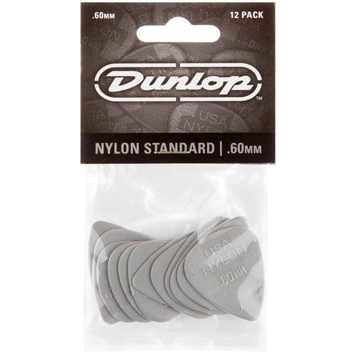 Médiators en nylon standard de Dunlop - Gris - Paquet de 12