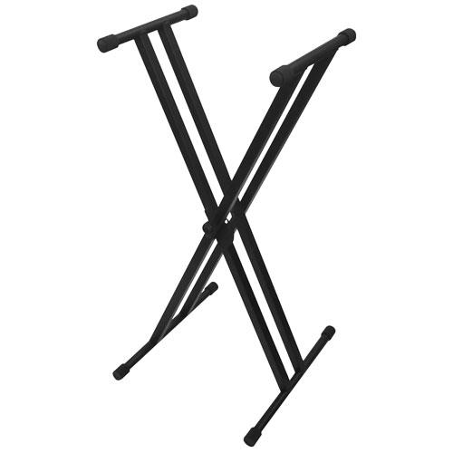 Ikon Audio Double Braced X-Style Keyboard Stand - Black