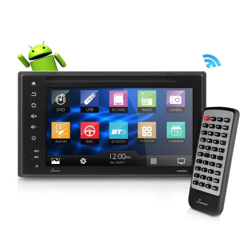 Lanzar récepteur de voiture Bluetooth Android, écran tactile HD de 6,5 po, Bluetooth / WIFI, GPS,