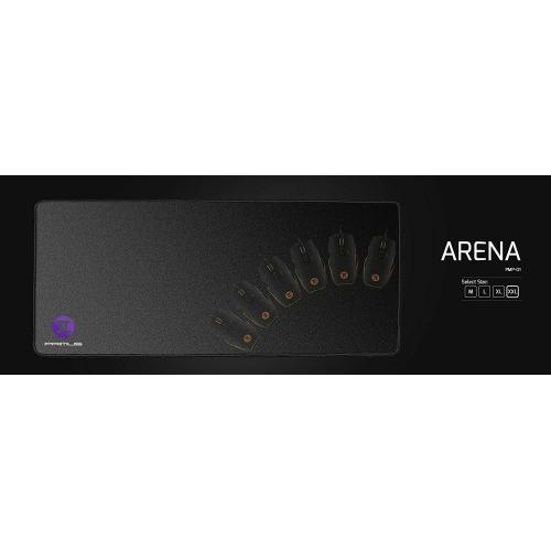 Primus PMP-01XL Arena Tapis de souris de jeu en caoutchouc antidérapant avec base en tissu souple - Noir