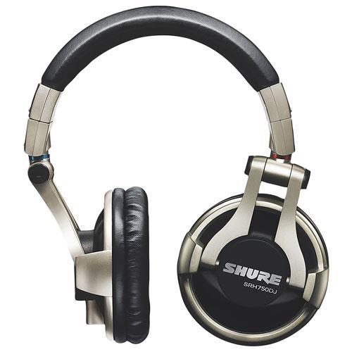 Shure SRH750DJ Professional Over-Ear Sound Isolating Headphones - Black