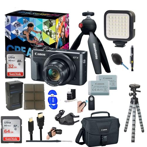 Canon PowerShot G7 X Mark II 20.1MP 4.2x Optical Zoom Digital Camera Video Creator Kit || 64GB SDXC Memory Card + Accessory Bu - US Version w/ Seller