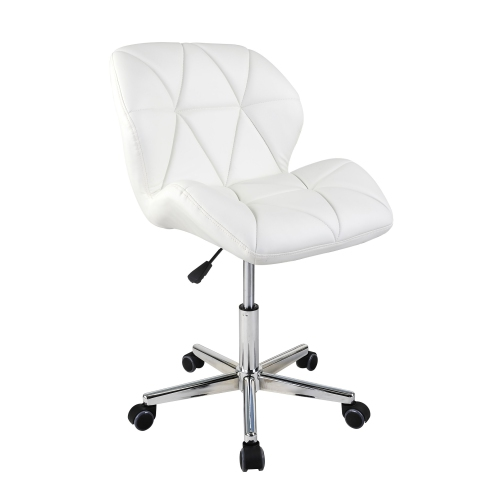Viscologic Jager Quilted Comfort Computer Desk Office Chair Stool White Best Buy Canada