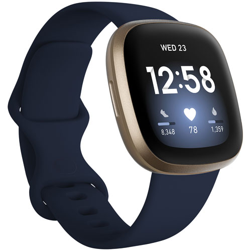 Fitbit Versa 3 Smartwatch with Amazon Alexa & Heart Rate Tracking - Midnight