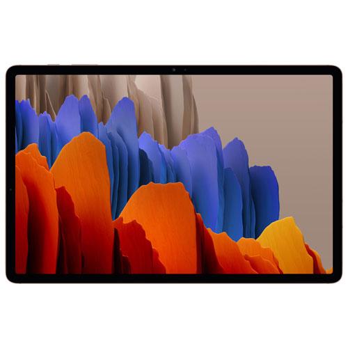 Galaxy Tab S7+ 12,4po 128 Go Android Samsung à proc. octocoeur Snapdragon 865 Plus - Bronze mystique