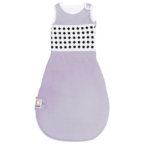 Nanit Breathing Wear Cotton Sleeping Bag for Nanit Plus Camera - 6 to 12 Months - Lilac