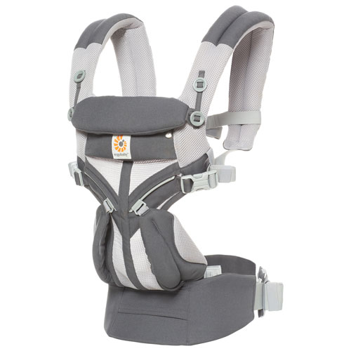 Ergobaby Omni 360 Cool Air Mesh Four Position Baby Carrier - Carbon Grey