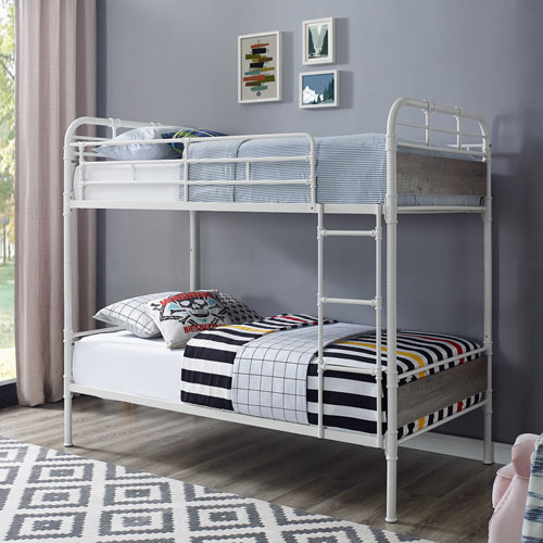 Winmoor Home Transitional Bunk Bed - Twin - Grey Wash